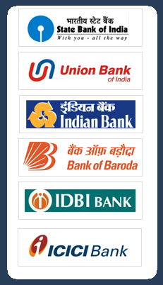 Net banking with various Banks